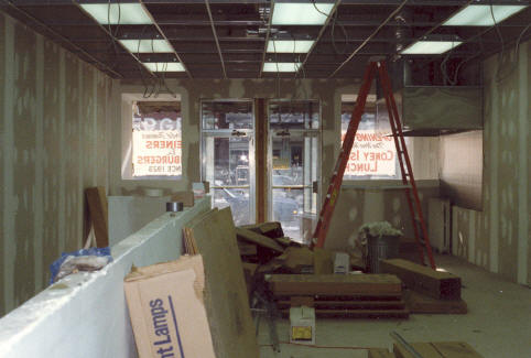 In the winter of '87 work progresses on our 515 Lackawanna Avenue location.