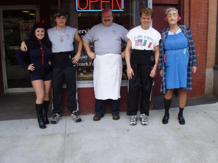A typical Halloween at Coney Island Lunch!