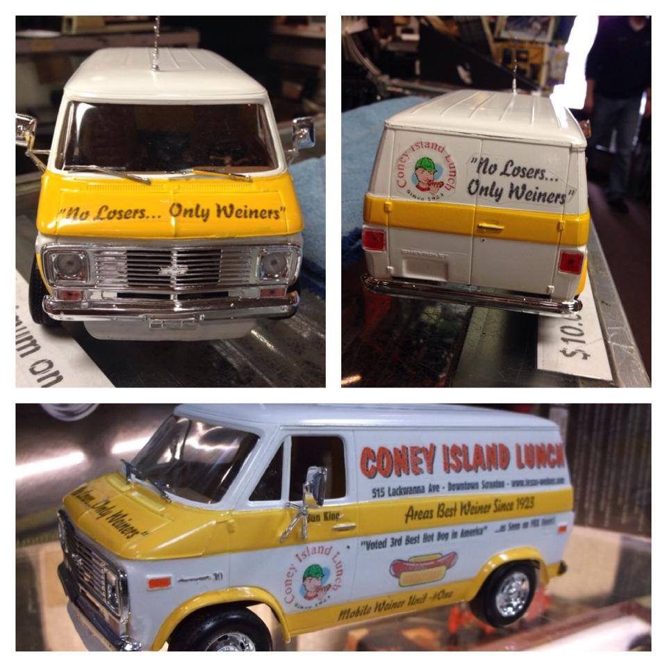 Tim Sweeney at Scranton Hobby made us a model Wiener Wagon!